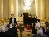 Stephen Isserlis and Sam Haywood at the Gala Concert at Lancaster House